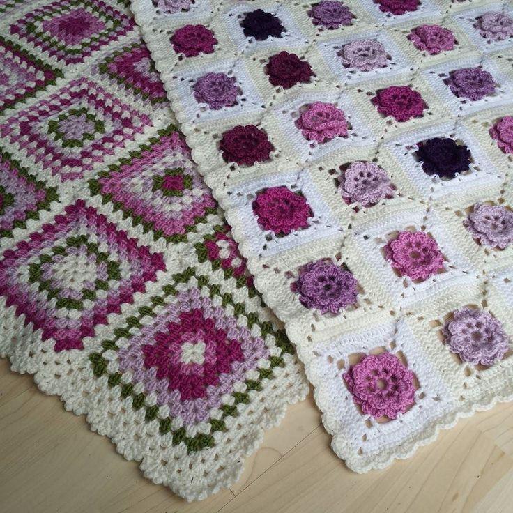 Mine favoritt hekletepper  My favorite crochetblankets  #hekleteppe #hekletepper #koseteppe #crochetblanket #crochetblankets #hækleteppe #virkadfilt #haken #hekledilla #heklet #virkat #hæklet #valdreshagenmin  #crochet #instacrochet #instacrochetlove #roseteppe #roseblanket #oldermorsruter #grannysquaresblanket by mariannsvingen