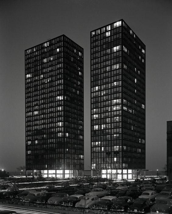 Lake Shore Dr. Apartments | Mies Van der Rohe. Chicago, IL 1950