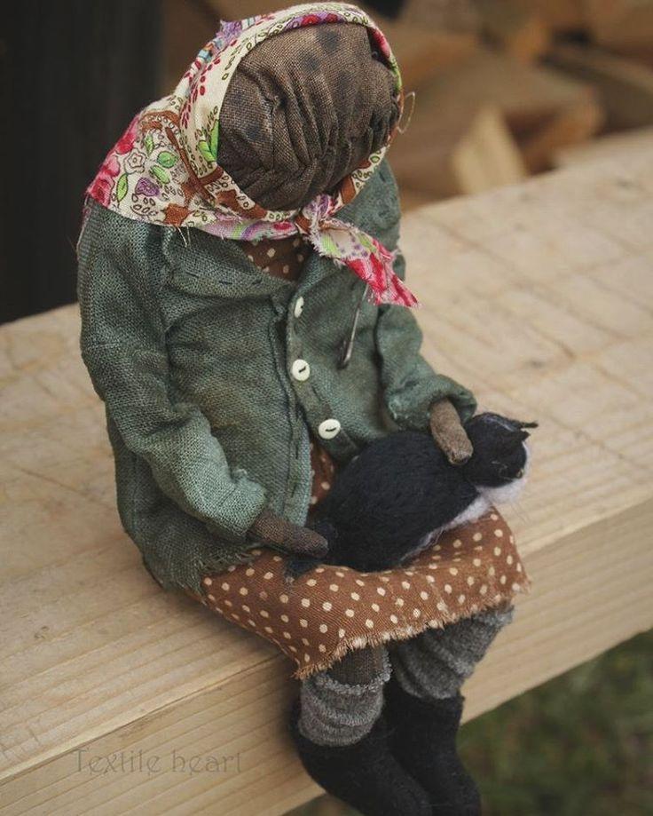 Баба Маня... Кукла свободна. Doll  for sale #textileheartdoll #artdolls #granny #creepycutedoll #Russia #бабуля #бабушка #авторскаякукларучнойработы #вдеревнеубабушки #ностальгия #русскаядуша