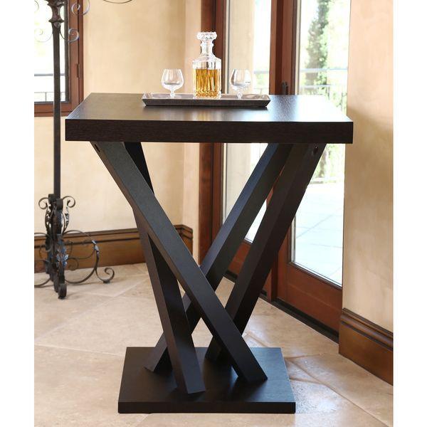 5e493b26673 Abbyson Living Cosmo Espresso Wood Square Bar Table - Overstock™ Shopping -  Big Discounts on Abbyson Living Bar Tables