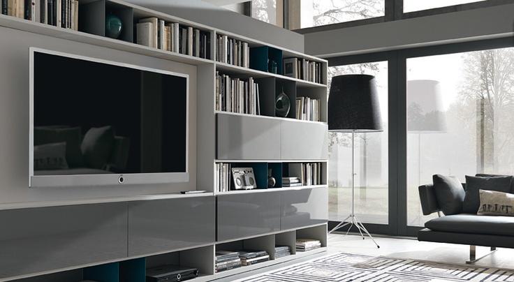 Urban Bookshelf with TV