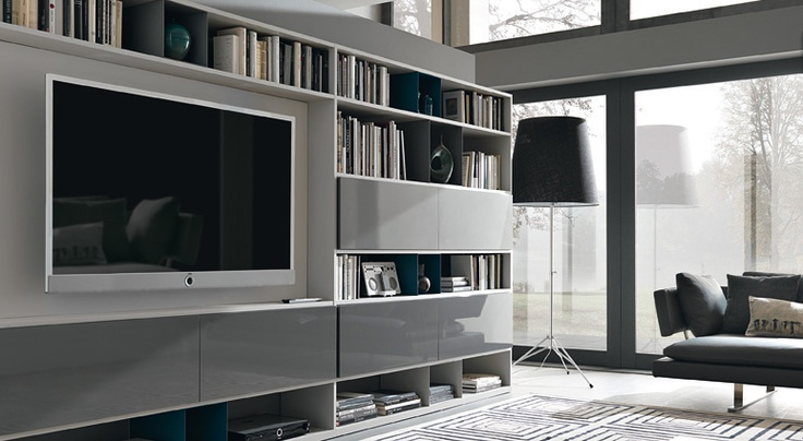 Urban Bookshelf with TV
