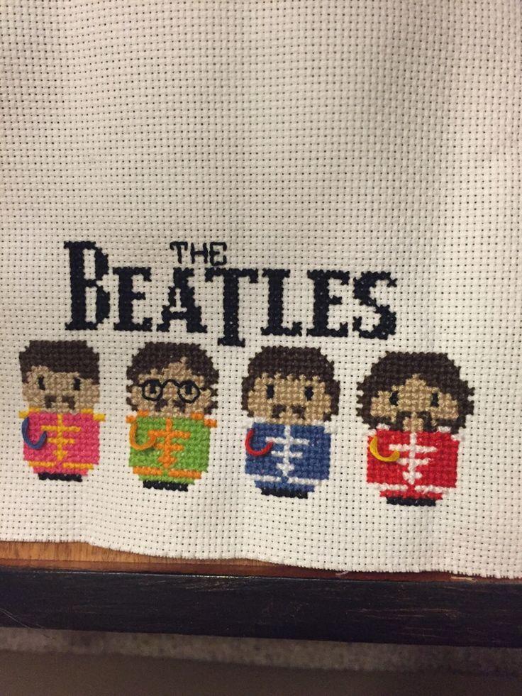 A Beatles cross-stitch I just finished!