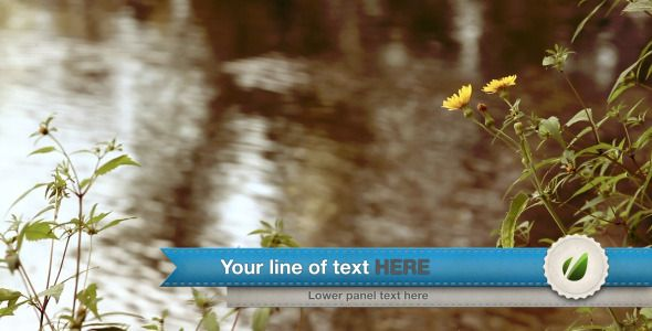 After Effects Project Files - Ribbon Lower third | VideoHive