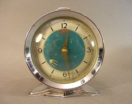 1950's Atomic Ranch House: Happy Almost Fall in the Southwest USA: Animated Alarm, 1950 S Atomic, Sputnik Animated, Alarm Clock, 1950S, Fall, Alarmclock, Ranch Houses, Clocks