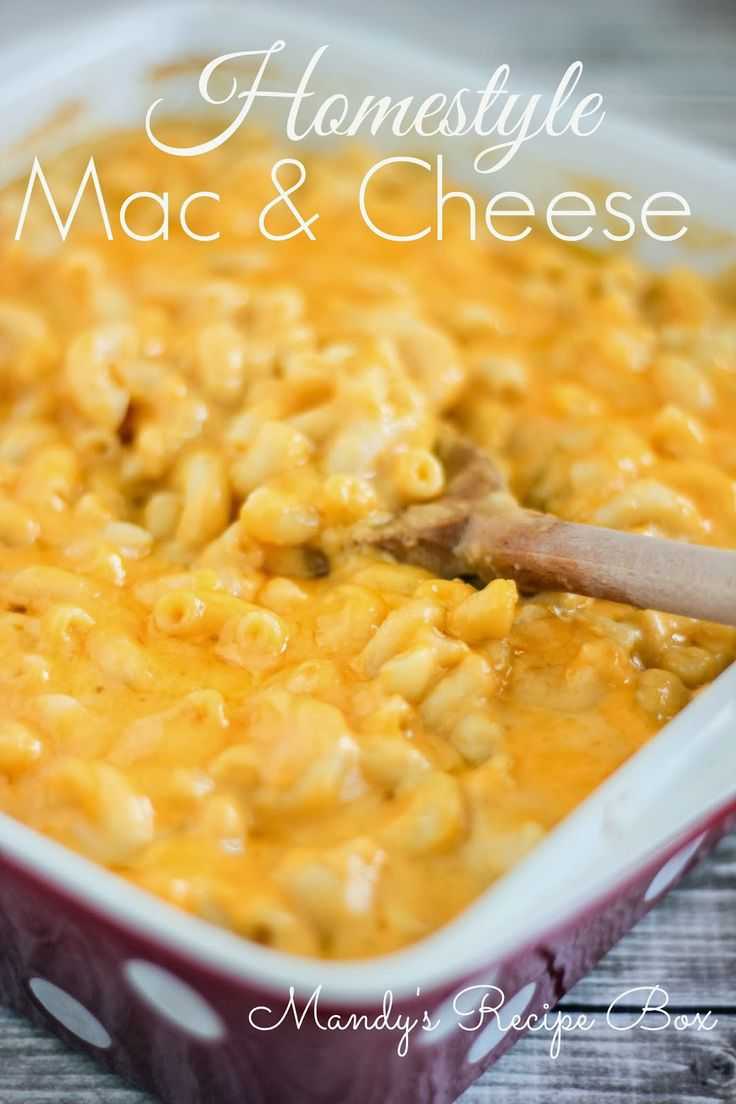 Mandy's Recipe Box: Homestyle Mac & Cheese// added chunks of ham for a meal. yummy!
