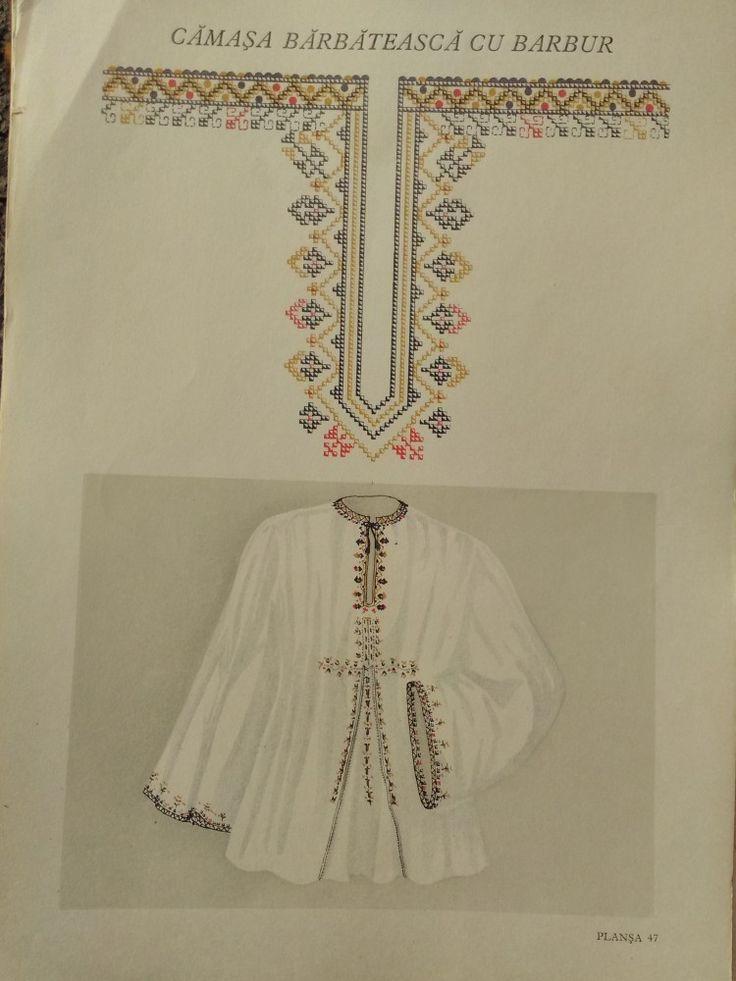 Plansa - model popular - CAMASA BARBATEASCA CU BARBUR - Costum popular - Okazii
