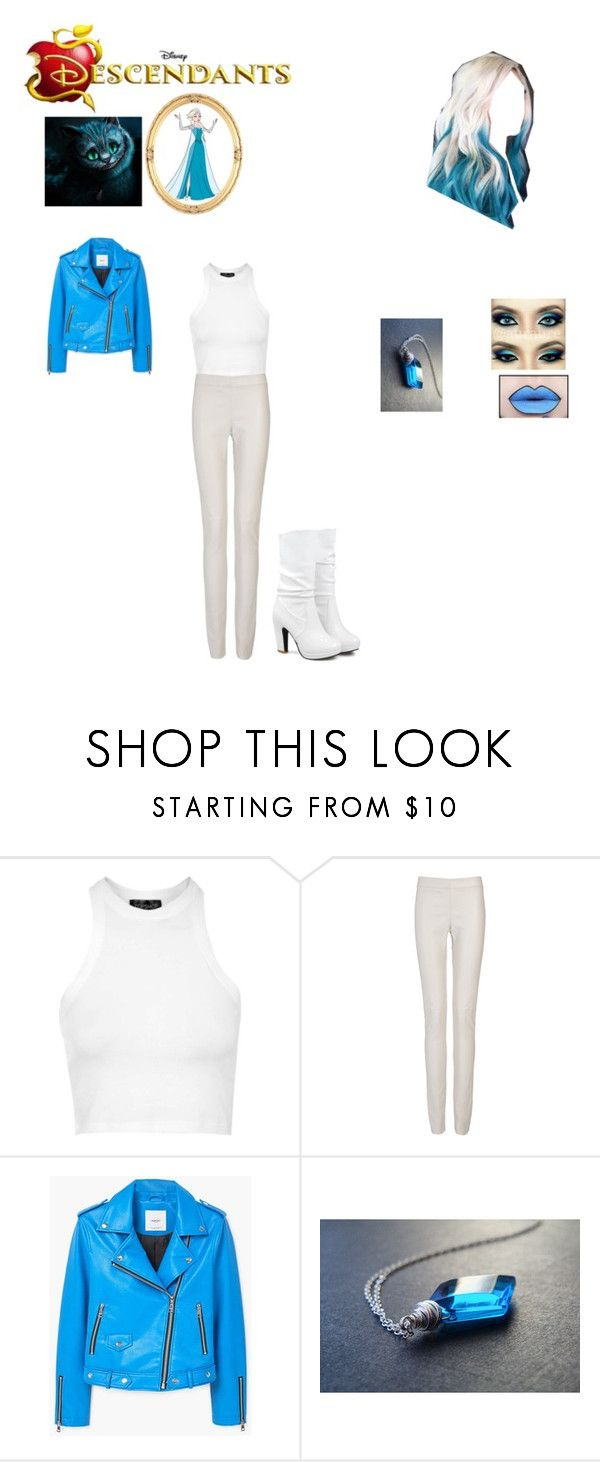 """""""OC: Kat Elsa Cheshire, Daughter of Elsa and Cheshire Cat"""" by makayla-cheyane-frazier ❤ liked on Polyvore featuring Disney, Topshop, Joseph and MANGO"""