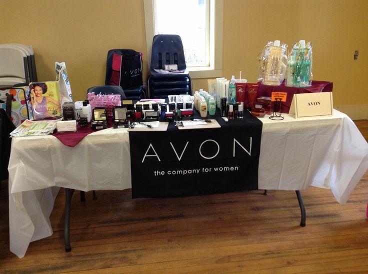 My Table At My First Avon Vendor Fair Business