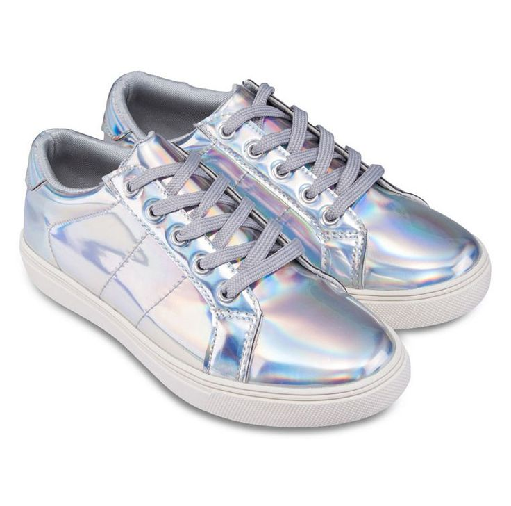 Platform Sneakers by Something Borrowed. Silver shoes that really on the hip list right now, a shoes with platform style, that made from canvas, and metallic upper, lace up, round toe, perfect shoes for hang out with friend, and for you who like a metallic stuff. http://www.zocko.com/z/JGr8w