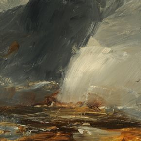 Artist Louise Balaam creates atmospheric landscapes and abstract paintings in…