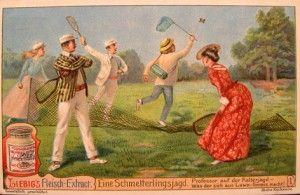 con la racchetta da tennis si prendono anche farfalle bella questa.......