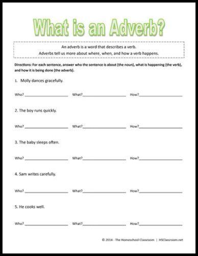 Adverbs sheet ks1