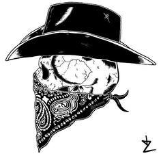Outlaw skull tattoo.