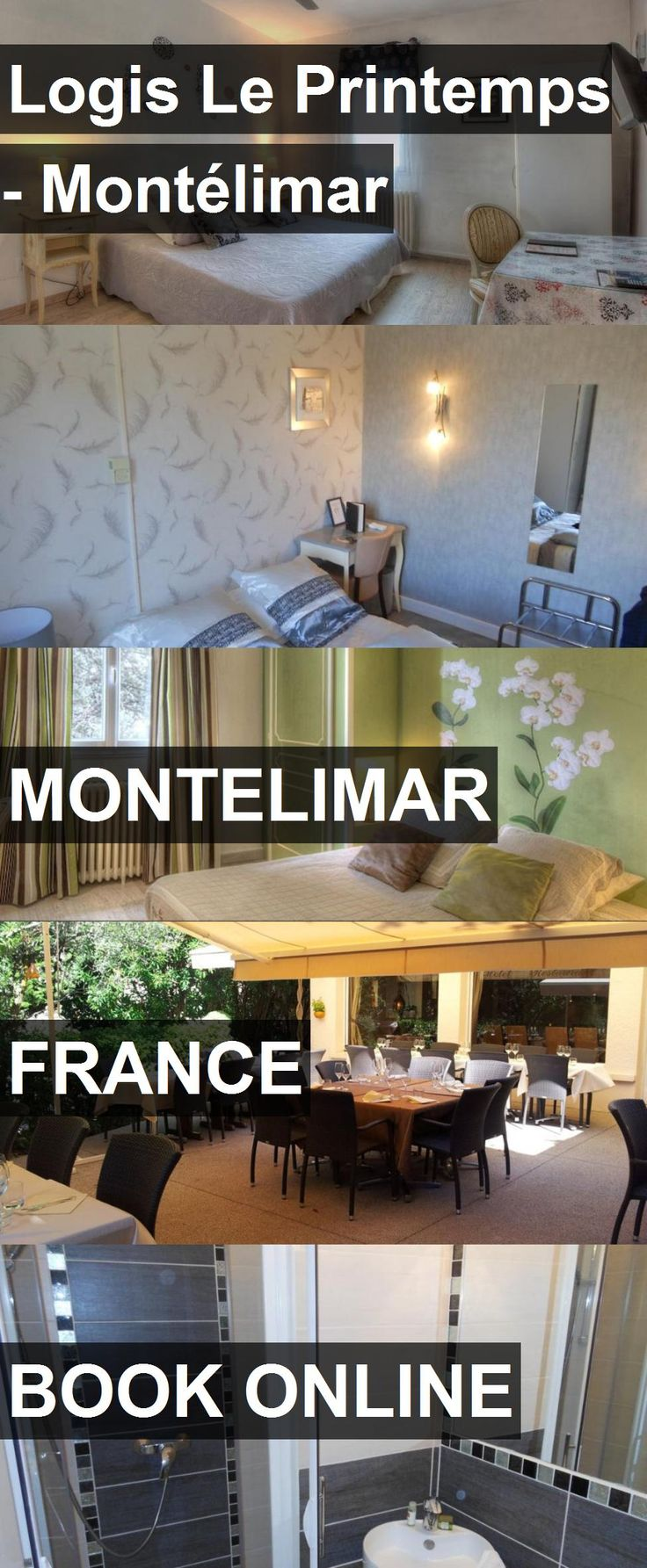 Hotel Logis Le Printemps - Montélimar in Montelimar, France. For more information, photos, reviews and best prices please follow the link. #France #Montelimar #LogisLePrintemps-Montélimar #hotel #travel #vacation