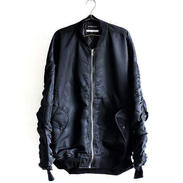アームシャーリングデザインオーバーサイズMA-1ジャケット | メンズスカートなどモード系ファッションの通販 albino