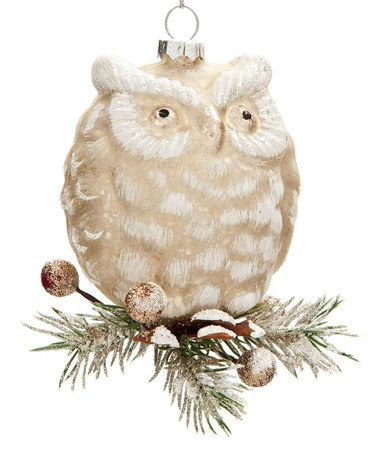Loving this Vintage Glass Owl Ornament on #zulily! #zulilyfinds