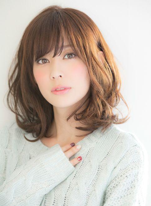 大人可愛いゆるふわミデイパーマ 【Ramie】 http://beautynavi.woman.excite.co.jp/salon/27006?pint ≪ #mediumhair #mediumstyle #mediumhairstyle #hairstyle・ミディアム・ヘアスタイル・髪形・髪型≫