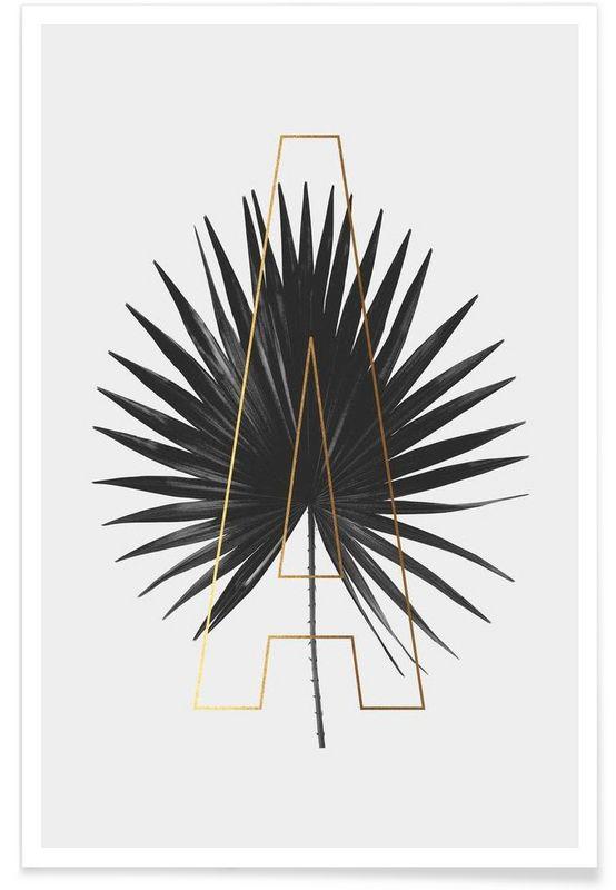 Plants A als Premium Poster von typealive | JUNIQE