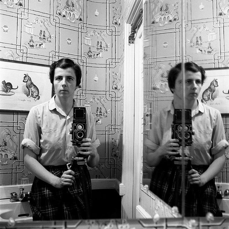 Vivian Maier - Self portrait - bathroom with rolleiflex camera