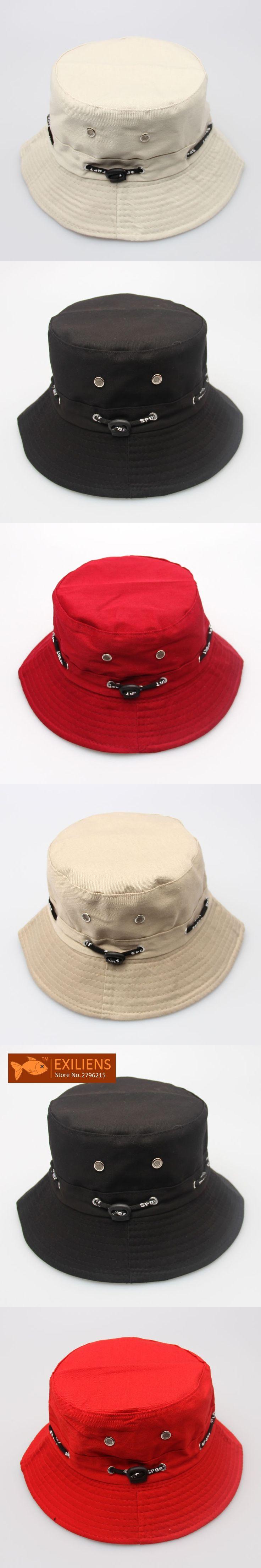 [EXILIENS] 2017 Fashion Brand Bucket Hats Cotton Top Hot Casual Fisherman Caps Hip-hop Hats For Men Women Lovely Black Hat