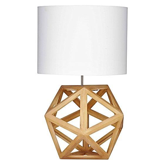 Modernise the mood of your home with the Hexagon Table Lamp from Amalfi, its striking design featuring in a soft, neutral palette.