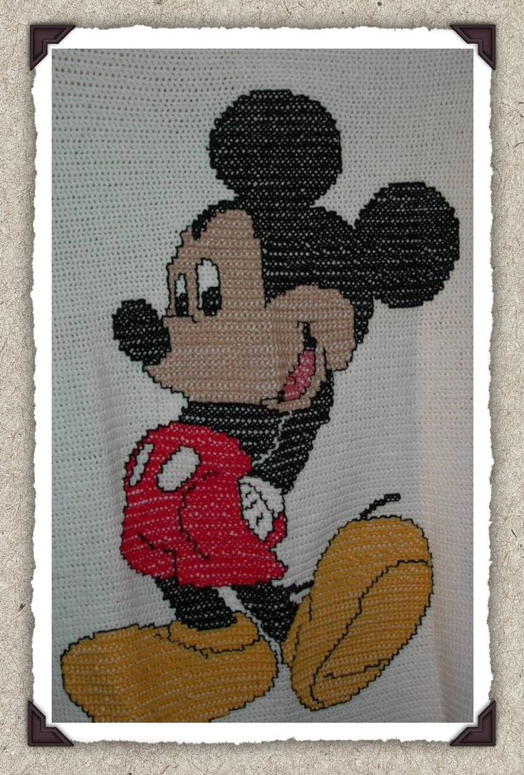 Mickey Mouse Crochet Afghan Pattern Free : Mickey Mouse Doll Patterns Free MICKEY MOUSE BLANKET ...