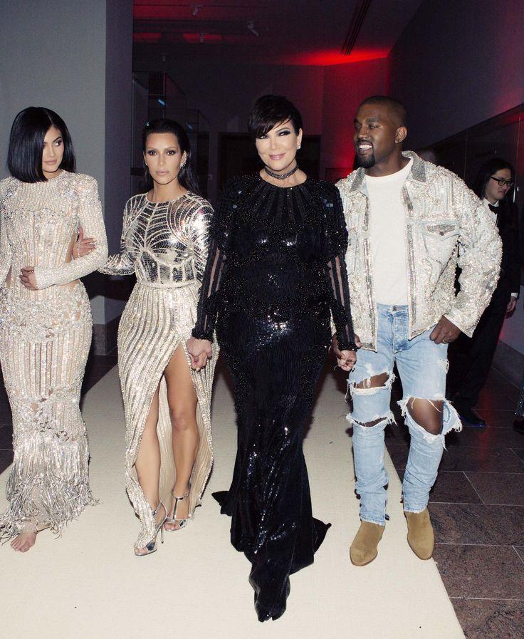 Kylie Jenner, Kim Kardashian West, Kris Jenner, and Kanye West