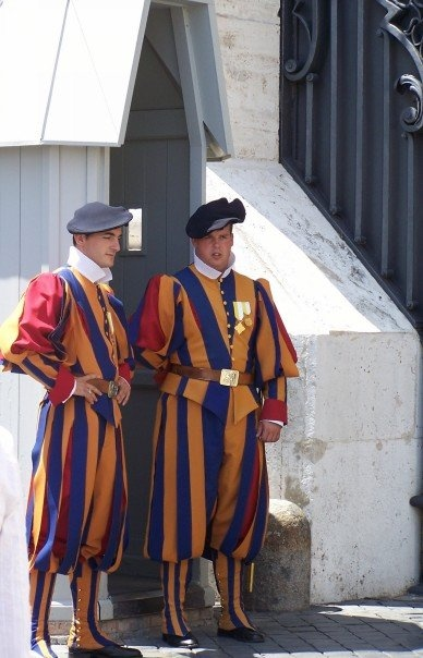 Roma - Swiss guard still wears Michaelangelo's uniform at the Vatican