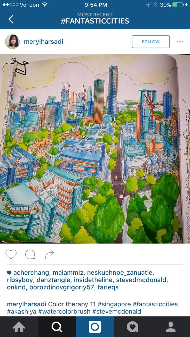 Fantasticcities SteveNcDonald Singapore Adult ColoringColouringColoring BooksSingaporeCities