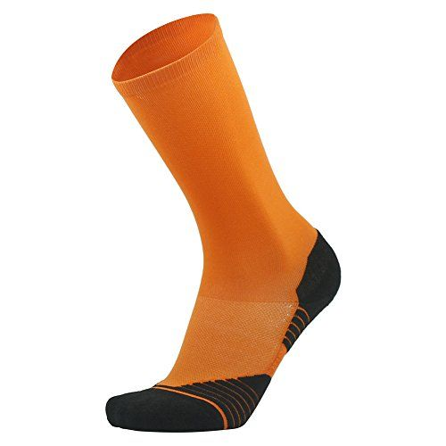 HUSO Mens DriFit Comfort All Sports Athletic Comperssion Football Dress Socks Color Orange 1Pack >>> Learn more by visiting the image link.Note:It is affiliate link to Amazon.