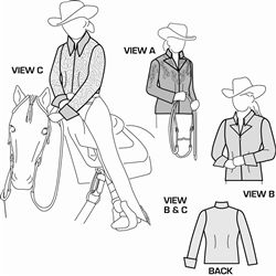 Womens and Girls Western Show Jacket and Blouse Pattern