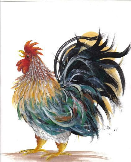 GALLO_Susan Wymola: Painting Patterns in pdf Free. Love this chicken. Most of the rest isn't my style, but i like these feathers.: