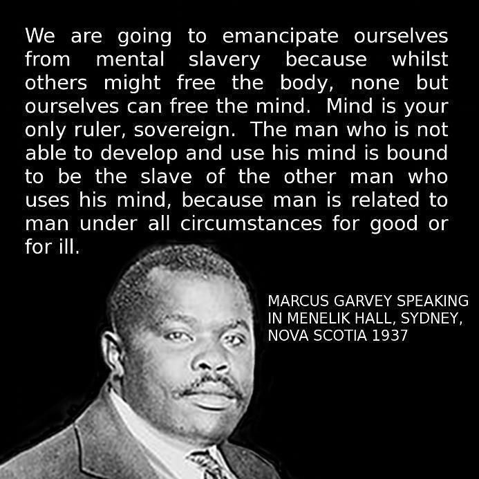 Marcus Garvey #BrainFood #RobertNestaMarley