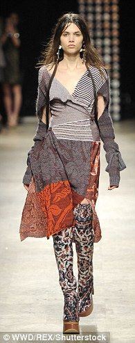 Bold: The clothes horses commanded the catwalk in designs that were weird and wonderful, in equal measure