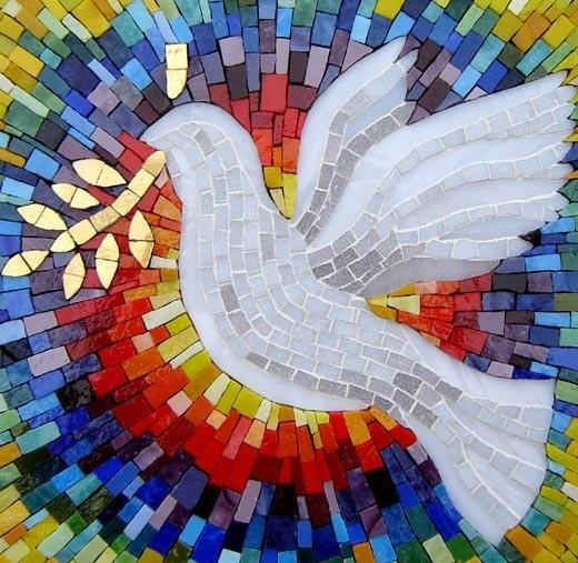Mosaic: Peace Dove, God, Mosaics, Rainbows, Backgrounds, Holy Spirit, Israel, Inspiration Quotes, Embroidery