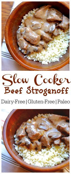 Set it and forget it with this lightened version of Beef Stroganoff. So easy and yummy!! Whole 30, and Paleo compliant.