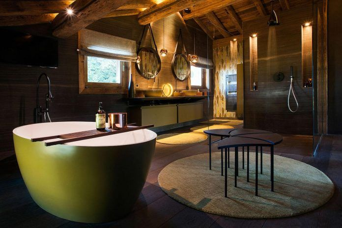 Construction of an unique cottage far from the traditional codes of the mountain chale in Megève, France - CAANdesign