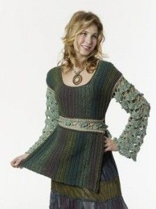 Caron Crochet Baroque Tabard Tunic  ~ Love the Victorian look of this one! Free Pattern