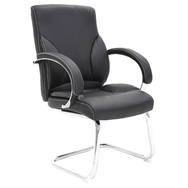 Visitor office armchair with PU black