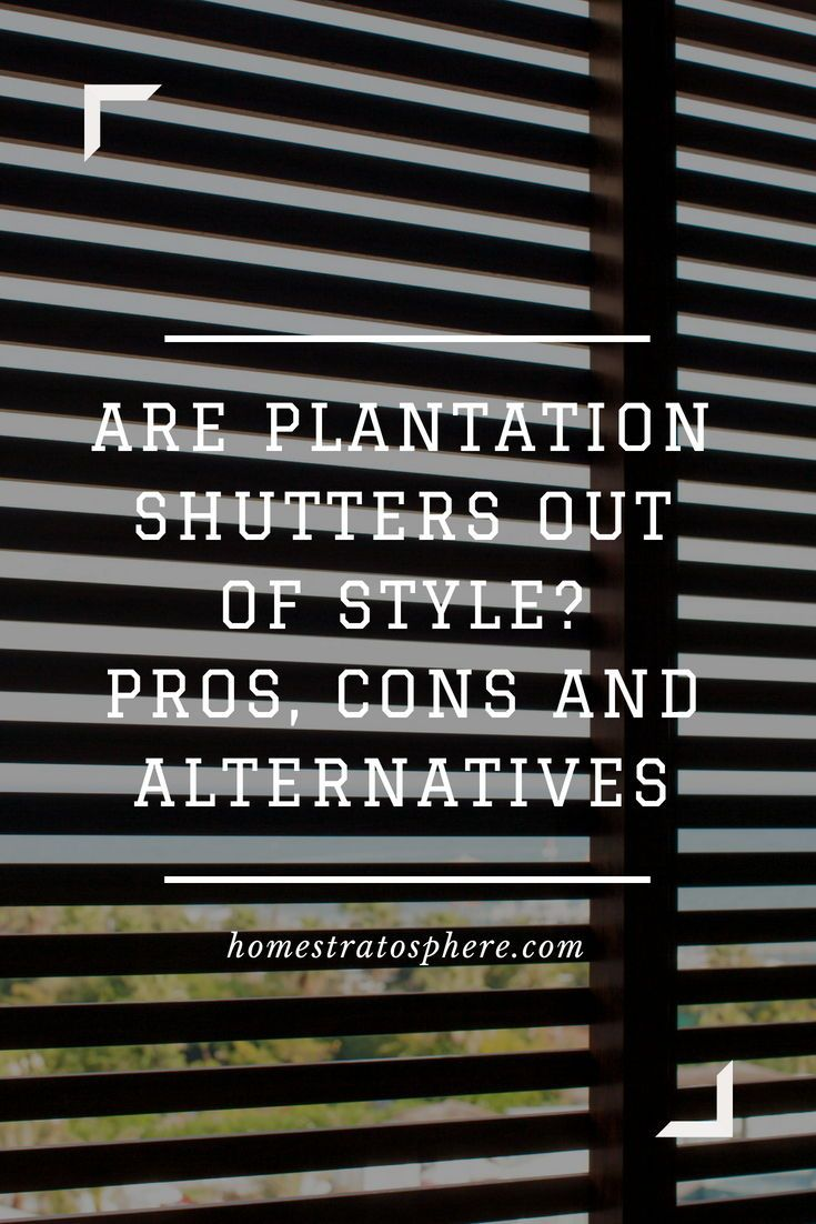 A Dark Wood Plantation Shutter Great For Keeping Out The Sunlight And Also Makes Your Room More Cooler Shutters Blinds Plantationshutter