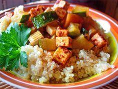 Couscous de quinoa aux légumes et tofu sans lait, sans blé Ecole de cuisine Végétarienne Cuisine sans gluten et sans caséine Cuisiner Autrement