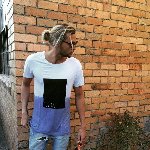 Mens clothing/fashion / casual dip dye tee / beach surf street winter boho style / Tevita clothing