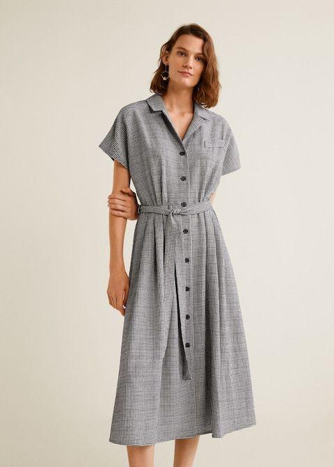 gingham check dress woman mango ireland karokleid kleider