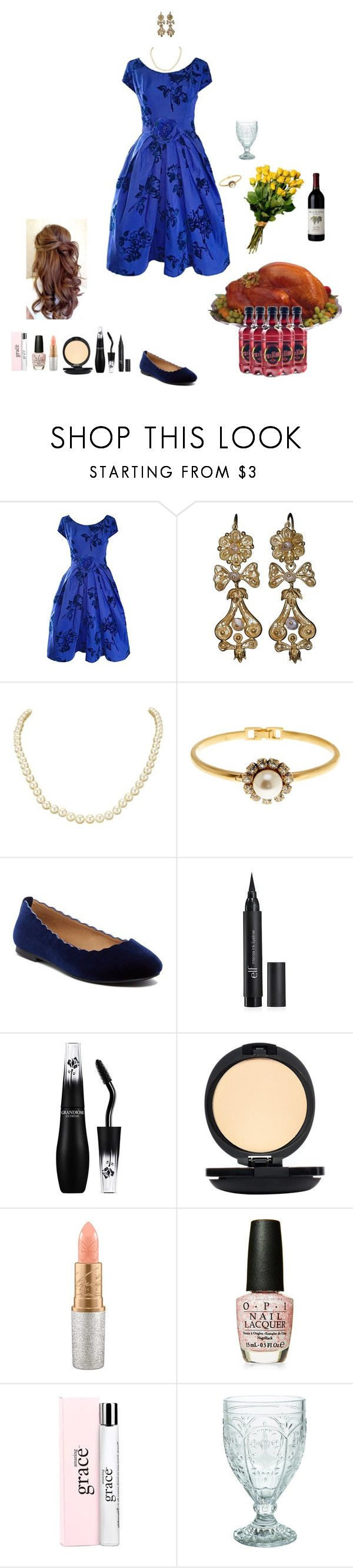 """""""family dinner (Orla)"""" by shulamithbond on Polyvore featuring Marc Jacobs, ESPRIT, Lancôme, Mënaji, Mariah Carey, OPI, philosophy and Fitz & Floyd"""