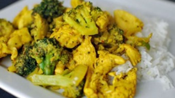 A twist on a standard chicken and broccoli dish, this is loaded with turmeric and ginger. The flavor is familiar and exotic at the same time!