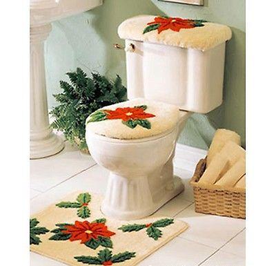 Christmas bathroom decor sets