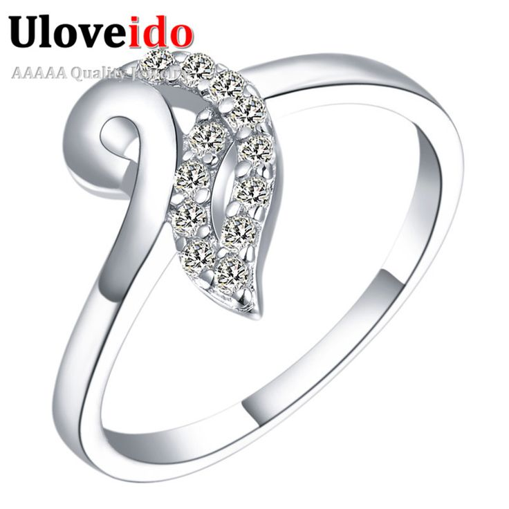 Find More Rings Information about 2016 Valentine's Day  Hot Sale Rings For Women Silver Plated Jewelry Simulated Diamond Joyas De Plate Wedding Gift Ulove J371,High Quality ring pear,China ring m Suppliers, Cheap ring india from Ulovestore Fashion Jewelry on Aliexpress.com
