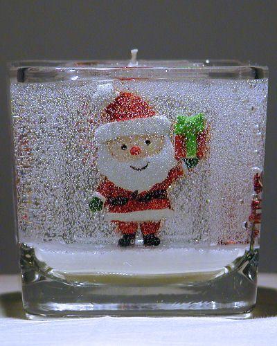 Gellite Gel Candles - Santa Christmas Candle, $21.97 (http://www.gellitecandles.com/santa-christmas-candle/)