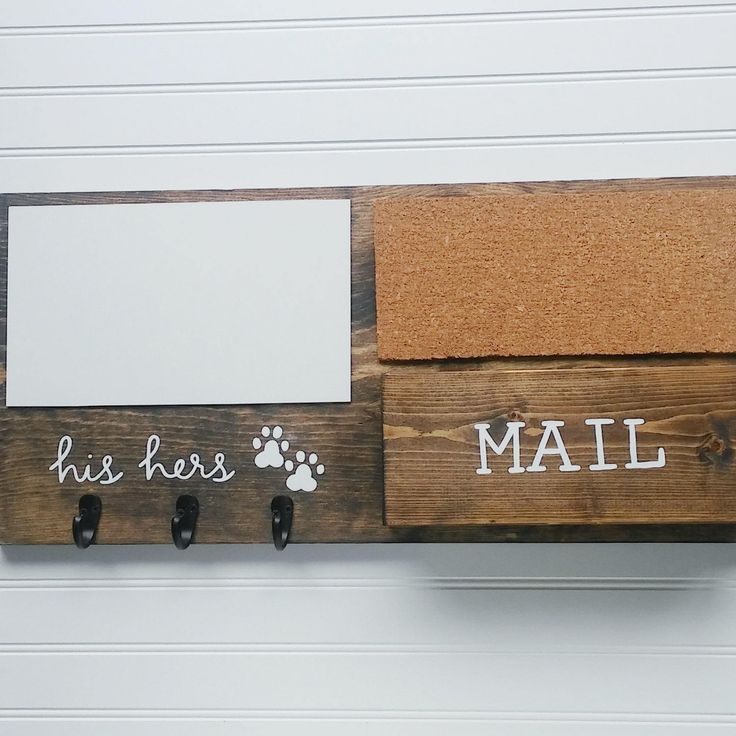 His and hers hooks for keys with mail organizer dog leash for Cork board with hooks